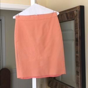 Coral No. 2 pencil style J. Crew skirt